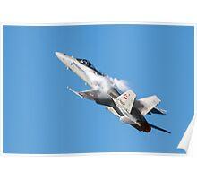 McDonnell Douglas F/A-18C Hornet fighter jet  Poster