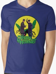 Funny Green Hornet Mens V-Neck T-Shirt