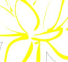 Lotus Flower Calligraphy (Yellow) Sticker