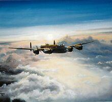 Lancaster flies East by Woodie