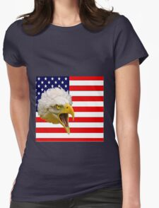 The Flag and the Eagle Womens Fitted T-Shirt