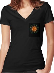 From the Mist a Golden Sun Women's Fitted V-Neck T-Shirt