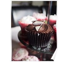 Mouth Watering Chocolate Cupcake  Poster