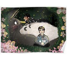 Dan & Phil with Totoro  Poster
