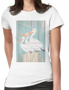 Pelican Wood Womens Fitted T-Shirt