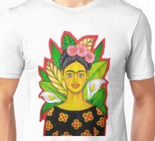 frida kahlo red Unisex T-Shirt