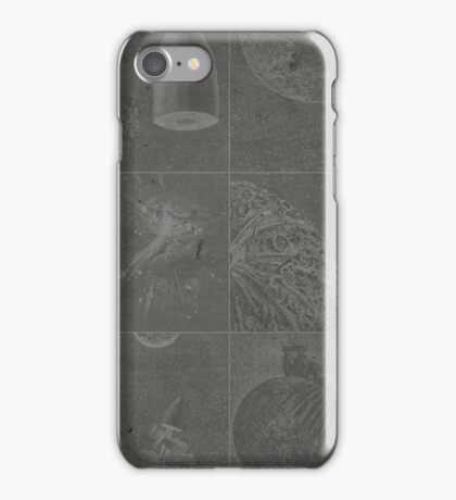 Jules Verne moon and rockets iPhone Case/Skin