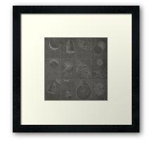 Jules Verne moon and rockets Framed Print