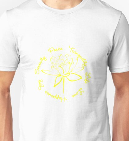 Serenity Tranquility Lotus (Yellow) Unisex T-Shirt