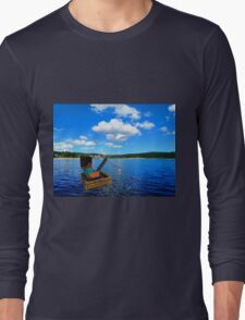 Minecraft: Fishing in reallife Long Sleeve T-Shirt