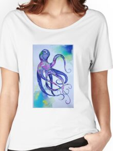 Octopus Watercolor Women's Relaxed Fit T-Shirt