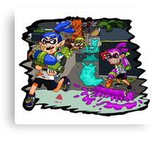 SPLAT! SPLAT! SPLATOON! Canvas Print