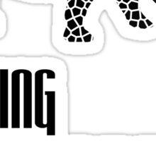 Endangered Wildlife - Fading Memories Black on White Sticker