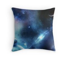 The Blue Universe  Throw Pillow