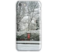 Snowy post box iPhone Case/Skin