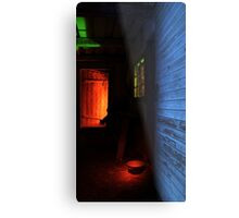 24.1.2016: Light Painted Cowshed Metal Print