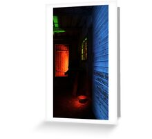 24.1.2016: Light Painted Cowshed Greeting Card