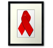 AIDS Awareness Red Ribbon Framed Print