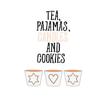 Tea Pajamas Candles Cookies Photographic Print