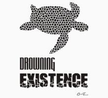 Endangered Wildlife - Drowning Existence Black on White One Piece - Short Sleeve