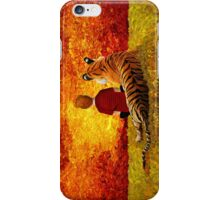 Cute Little Boy with the lazy tiger iPhone Case/Skin