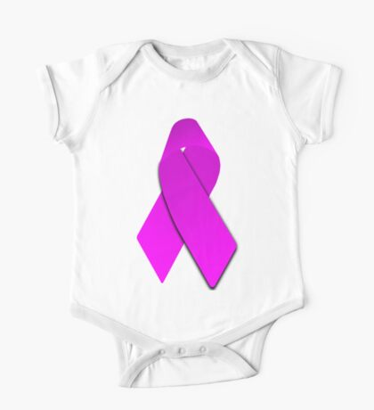 Pink Breast Cancer Ribbon One Piece - Short Sleeve