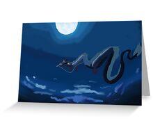 Spirited away flying scene Greeting Card
