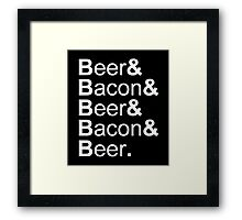 Beer&Bacon&Beer&Bacon... Framed Print