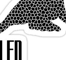 Endangered Wildlife - Sealed Future Black on White Sticker