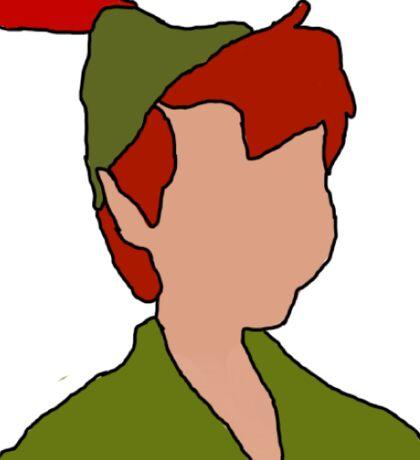 Peter Pan Silhoutte Outline Sticker