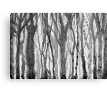 blurred trees Canvas Print
