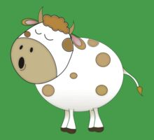 Cute Moo Cow Cartoon Animal Kids Tee