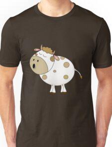 Cute Moo Cow Cartoon Animal Unisex T-Shirt