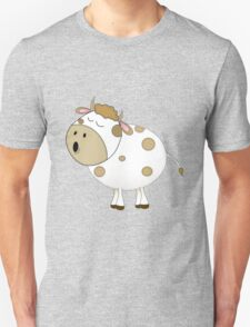 Cute Moo Cow Cartoon Animal Unisex T-Shirt