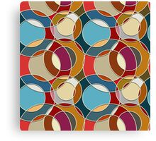 Cool Colorful Circles Pattern Canvas Print