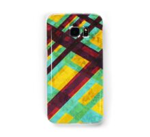 Plaid Yellow, Blue, and Maroon for you! Samsung Galaxy Case/Skin