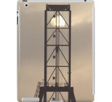 Container Crane with Sun iPad Case/Skin
