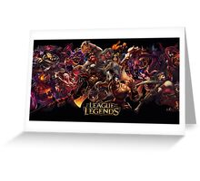 leauge of legends Greeting Card