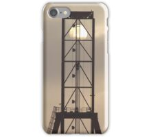 Container Crane with Sun iPhone Case/Skin