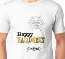 Happy Halloween Spider & Web Unisex T-Shirt