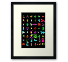 BBC Micro Heroes and Villains Framed Print
