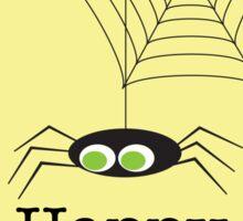 Happy Halloween Spider & Web Sticker