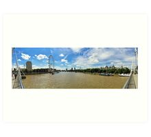 London Eye - panorama Art Print