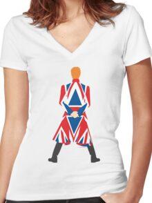 Earthling Women's Fitted V-Neck T-Shirt