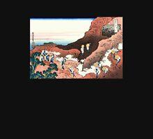 'Climbing on Mt. Fuji' by Katsushika Hokusai (Reproduction) Unisex T-Shirt