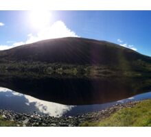 Scottish loch reflection - panorama  Sticker
