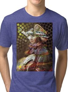 Space Pirate. Collaboration with Trena Tri-blend T-Shirt