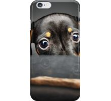 Puppy longing for a treat iPhone Case/Skin