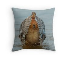 Peek a boo duck Throw Pillow