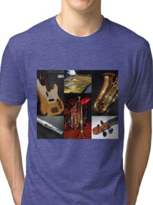 Swing That Music Collage Tri-blend T-Shirt
